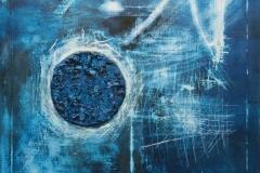 """Eternidad en hielo I"", 2018 Oil on canvas – H: 120 cm W: 120 cm Ref.: 159"